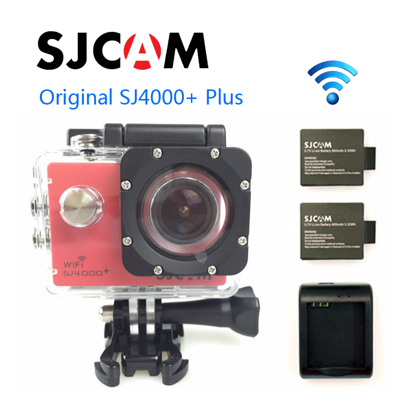 Free Shipping!!Original SJCAM SJ4000 Plus 2K Novatek 96660 1080P 60FPS WiFi Action Camera +Extra 2pcs batteries+Battery Charger