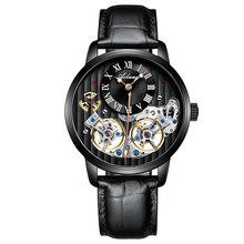 Часы AILANG класса ААА, швейцарские часы с двойным турбийоном, Роскошные Мужские автоматические механические часы(Китай)