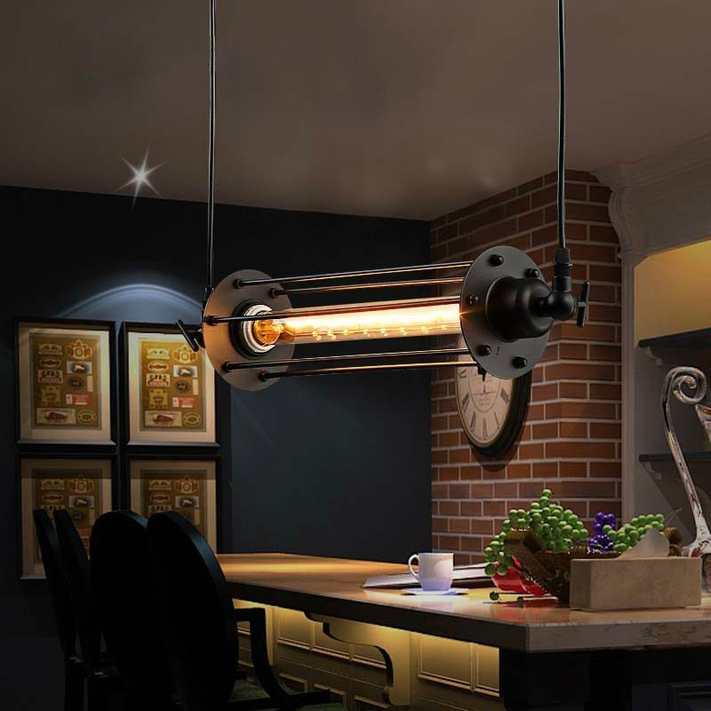 lukloy industrial retro vintage chandelier flute light pendant fixtures lamp shade for kitchen. Black Bedroom Furniture Sets. Home Design Ideas