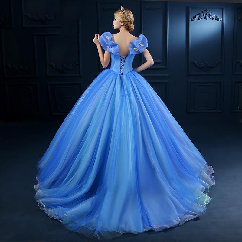 Online Get Cheap Cinderella Gown Aliexpress Com: Aliexpress.com : Buy Hot Sale Adult Cinderella Cosplay