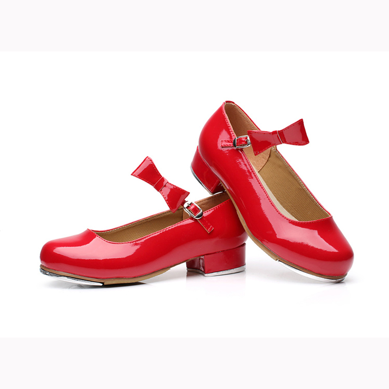 Girls Red Tap Shoes