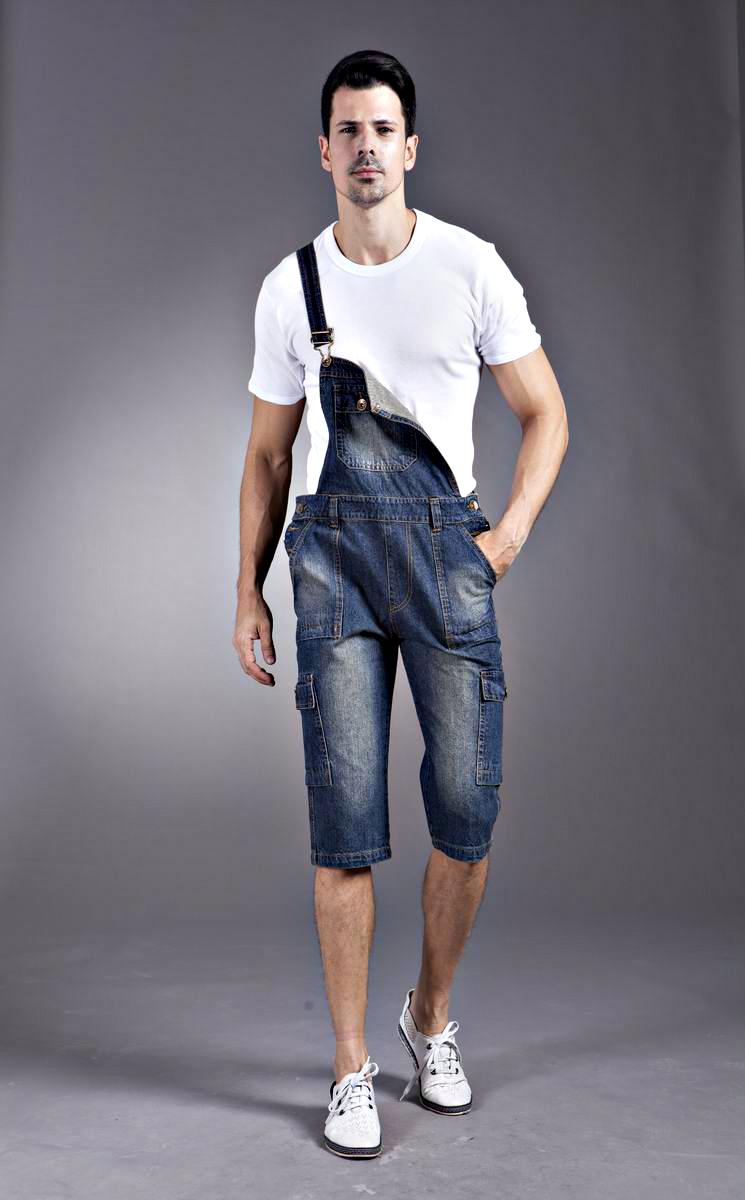 Jeans Bib Overalls Man Foto 118
