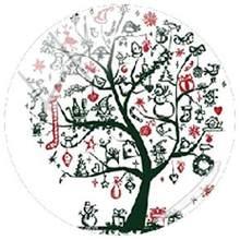 TAFREE Рождественское дерево, искусство, картинка 25 мм стеклянный кабошон и стеклянный купол аксессуары для брелока ожерелья DIY Рождественски...(Китай)