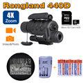 Free Shipping NV 440D Infrared Night Vision IR Monocular Telescope DVR 3 Battery Kit Lens 35mm