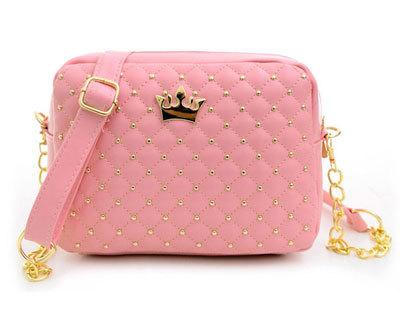 Женская сумка-мессенджер с заклепками и цепочкой, сумка через плечо из искусственной кожи высокого качества, N0310, 2020(Китай)