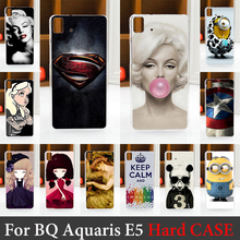 For BQ Aquaris E5 Case Hard Plastic Mobile Phone Cover Case DIY Color Paitn Cellphone Bag Shell  Shipping Free