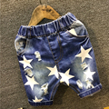 New 2 7Yrs Stars Baby Boys Denim Hole Shorts Kids Jeans Boys Casual 2016 Summer Fashion
