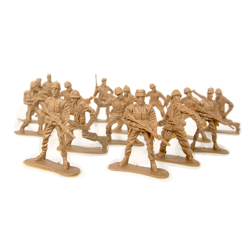 5*3cm Small Size 30 pieces Plastic Soldiers Model Military Set Gift For Boys Educational Kids Toys For Children Home Decoration
