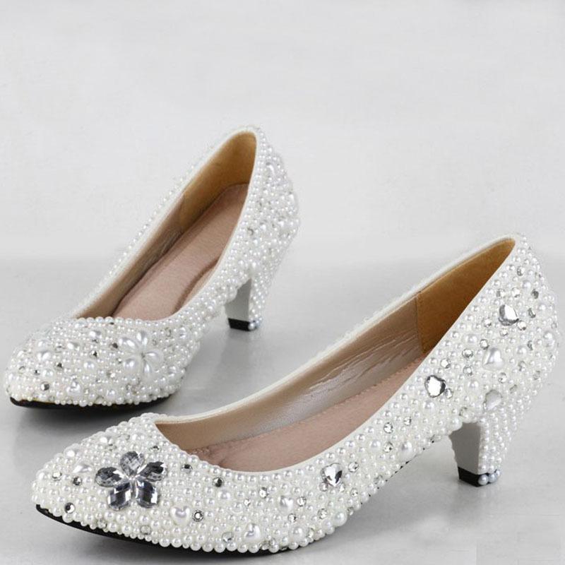 Comfortable Low Heel Wedding Shoes: 2015 Fashion Lady Dress Shoes Woman Bridal Wedding Shoes