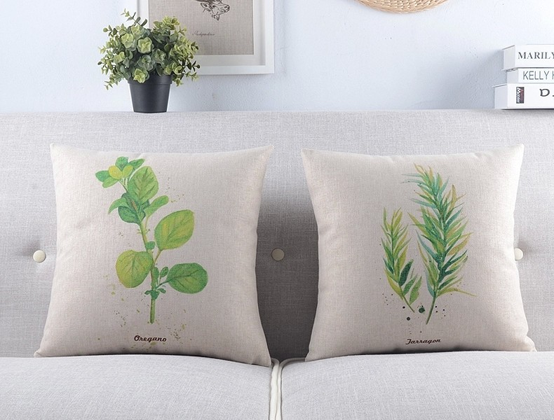 Throw Pillows Covers Cushion Cover Rustic Green Plant Leaf