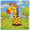 Wooden Kids Jigsaw Puzzles Toys With Animals Pattern For Children Education And Learning Toy Cartoon Baby