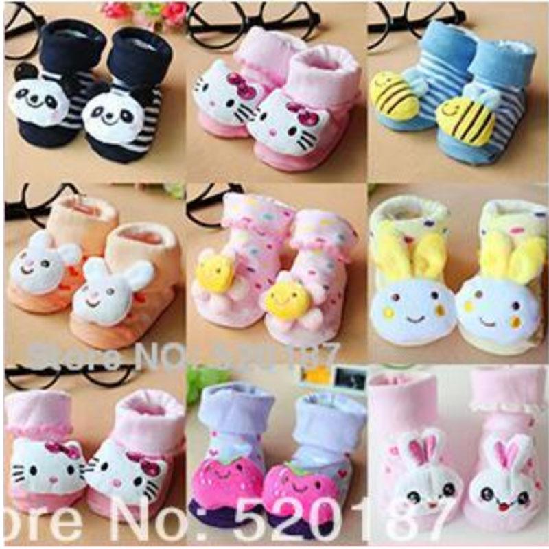 1Pair New 2015 Baby Socks Cotton Knitted Kids Floor Socks Soft Breathable Baby Girls Socks Lovely