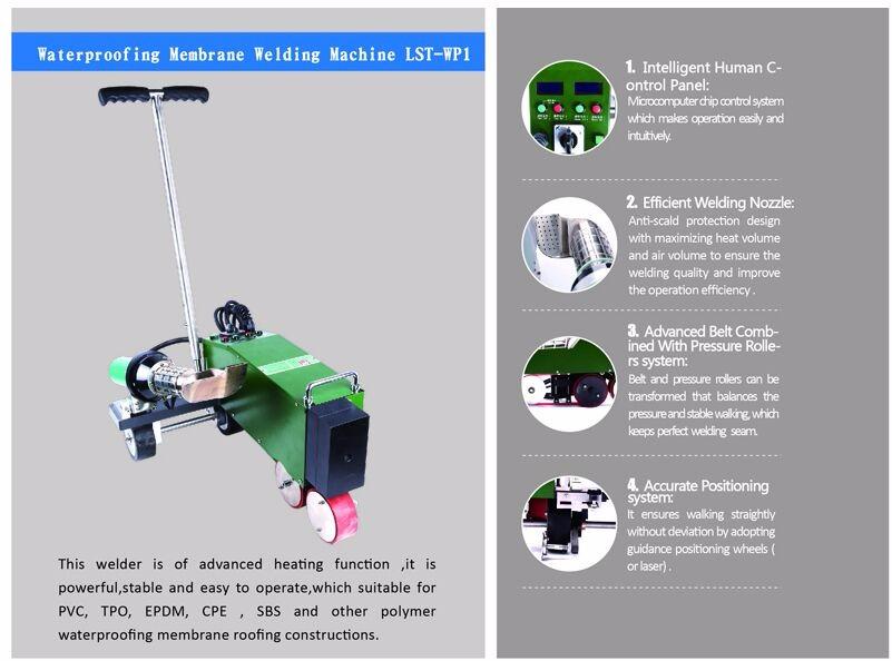 Portable Roof Welder Automatic Hot Air Seam Welding
