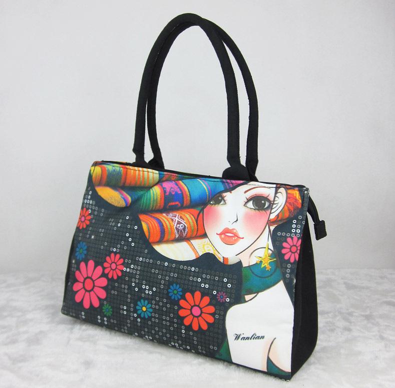 Compra pintado a mano bolsas online al por mayor de China