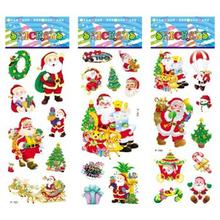 6 sheets set font b Christmas b font font b Santa b font Snowman Tree stickers