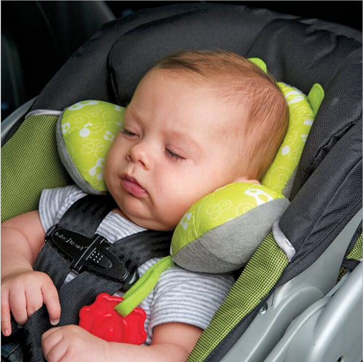 Total Support Headrest Baby Infant Car Travel Sleeping