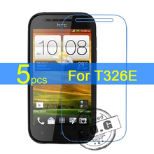 5pcs Ultra Clear LCD Screen Protector Film Cover For HTC Desire SV T326E Film  +  cloth
