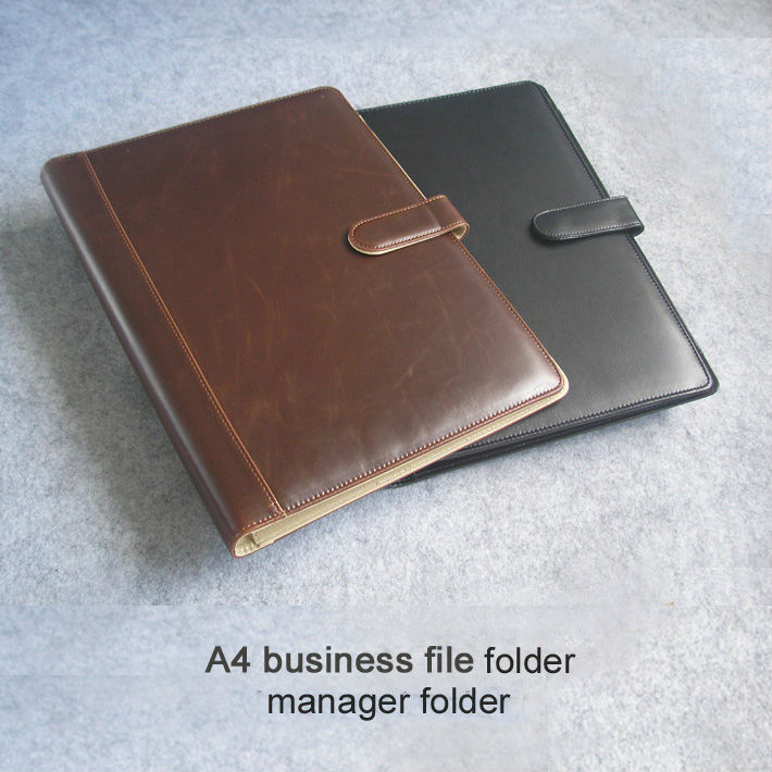Office Supplies A4 Business Leather Document Folder For