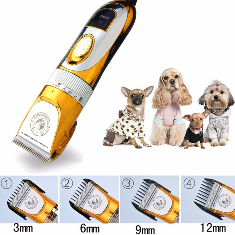 Professional Pet Clipper Scissors <font><b>Dog</b></font> Cattle Rabbits Shaver 60W High Power Horse Grooming Electric Hair Trimmer Cutting Machine