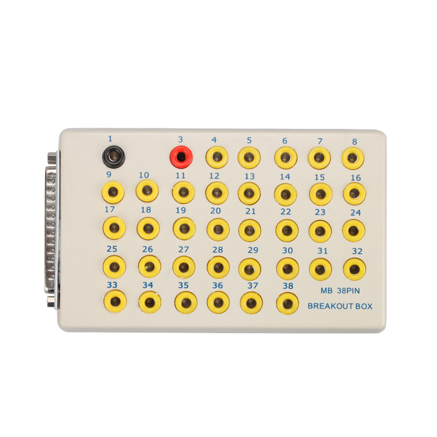 Мб 38PIN измерительного блока до 38 контакт. для Benz диагностический разъем