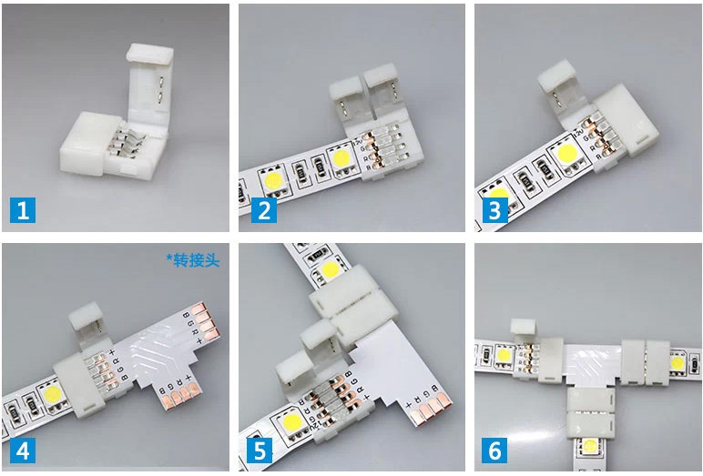 4 Pin Led Strip Light Connectors With Different Types