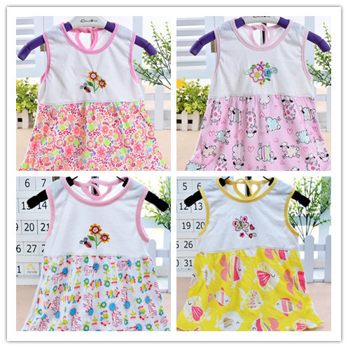 free shipping baby for girls cute girl baby t shirt dress tank top outerwear summer girls