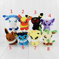 Eevee Espeon Plush Flareon Umbreon Glaceon Vaporeon Toys 13cm Soft Stuffed Brinquedos Anime Cartoon Dolls FreeShipping