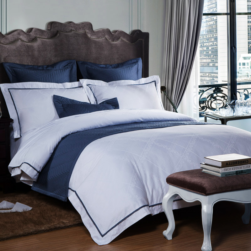 Hotel Collection King Size Quilts: Hotel Luxury White Bedding Sets Bed Sheets Satin Cotton