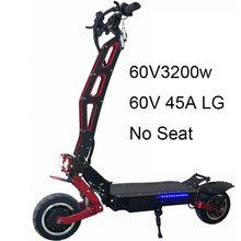 Мощный электрический скутер 60 в 3200 Вт для взрослых, электрический скейтборд с литиевой батареей LG, внедорожные скутеры с большим колесом(Китай)