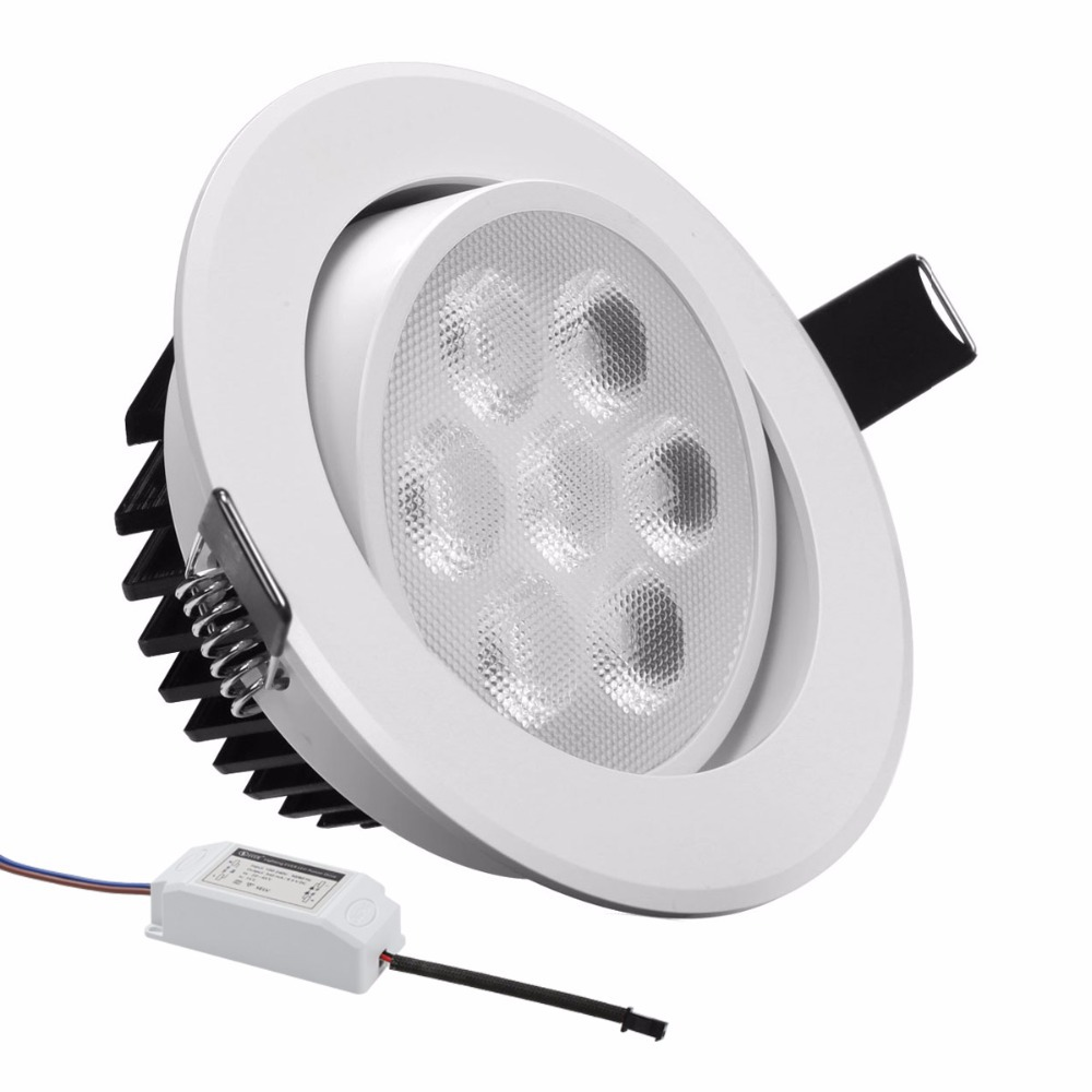 free shipping le paint white 7w 4in led recessed ceiling lights 75w halogen equiv warm white. Black Bedroom Furniture Sets. Home Design Ideas