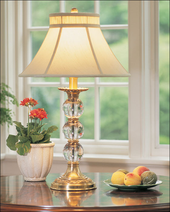 Hot Sale Brass Vintage Table Light With Fabric Shade/Home