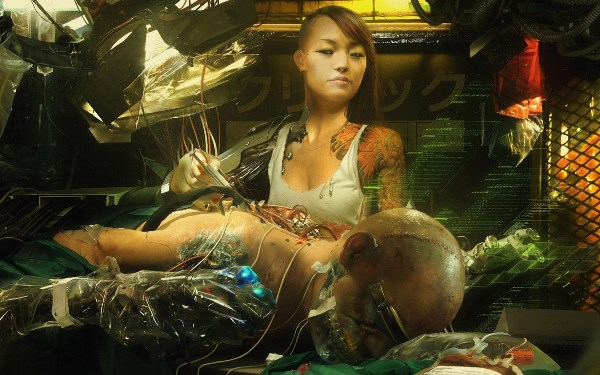 2016 Wall Art Cuadros Art Cyborg Wires Sci-fi Fantasy Cyberpunk Girl Woman <font><b>Asian</b></font> 4 Sizes <font><b>Home</b></font> <font><b>Decoration</b></font> Canvas Poster Print
