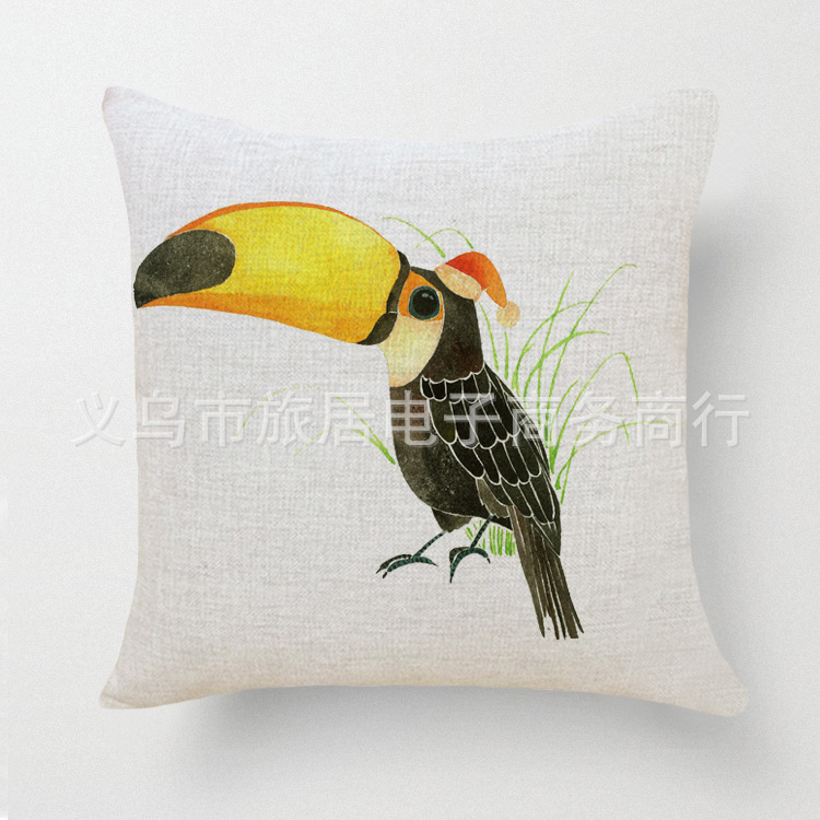 Cartoon Bird Home Decorative Throw Pillow Case Sofa Decor Cushion Cover Escritorio Dakimakura Car Cojin Outdoor Capa De Almofada