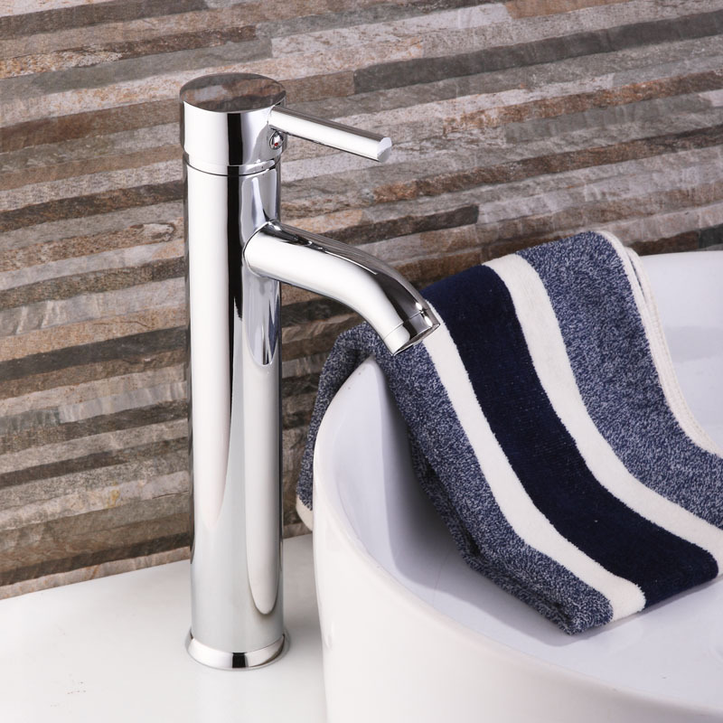 Cheap Brass Chrome Tall Cylinder Bathroom Bath Bar Sink