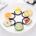 NEW Top Sell Imitation Fruit Kids Hairband WaterMelon Orange Lemon Sliced Charm Girls Hair Band HairRope