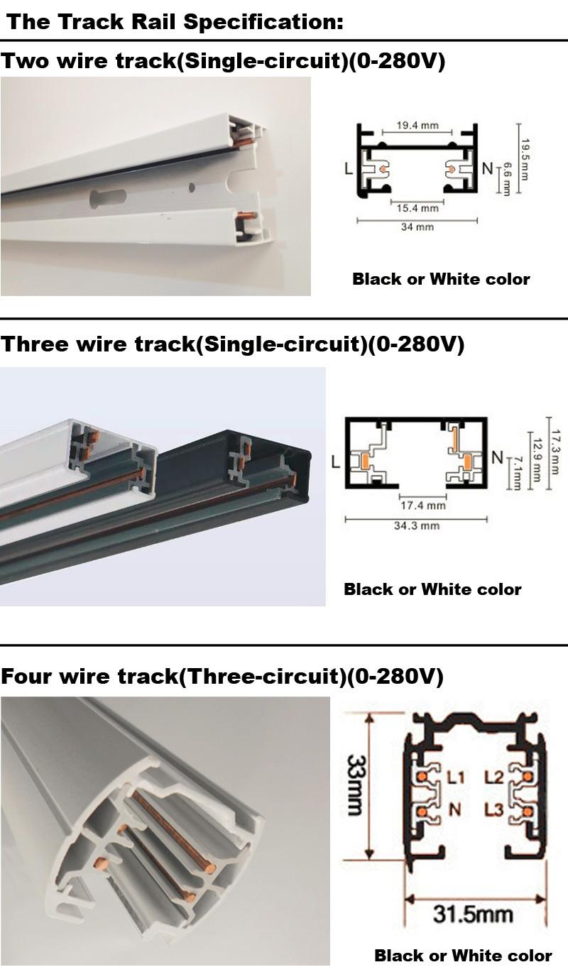 2020 Led Track Rail 1m 3 Wire