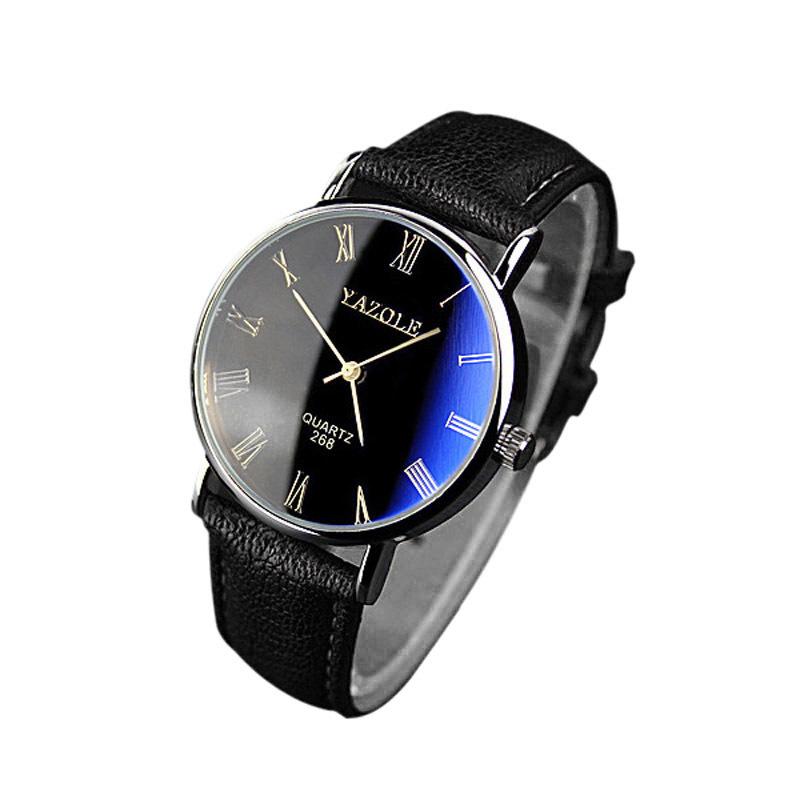2015 горячая распродажа новое поступление мода мужские роскошные искусственной кожи наручные кварцевые аналоговые часы
