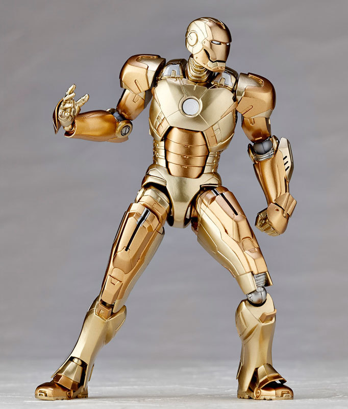 high detial many accessories Super Hero Revoltech gold