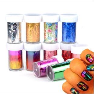 1sheet 2016 A universe nail stickers Harajuku Star Bluesky Nail Art Decorations Beauty Nail gel polish
