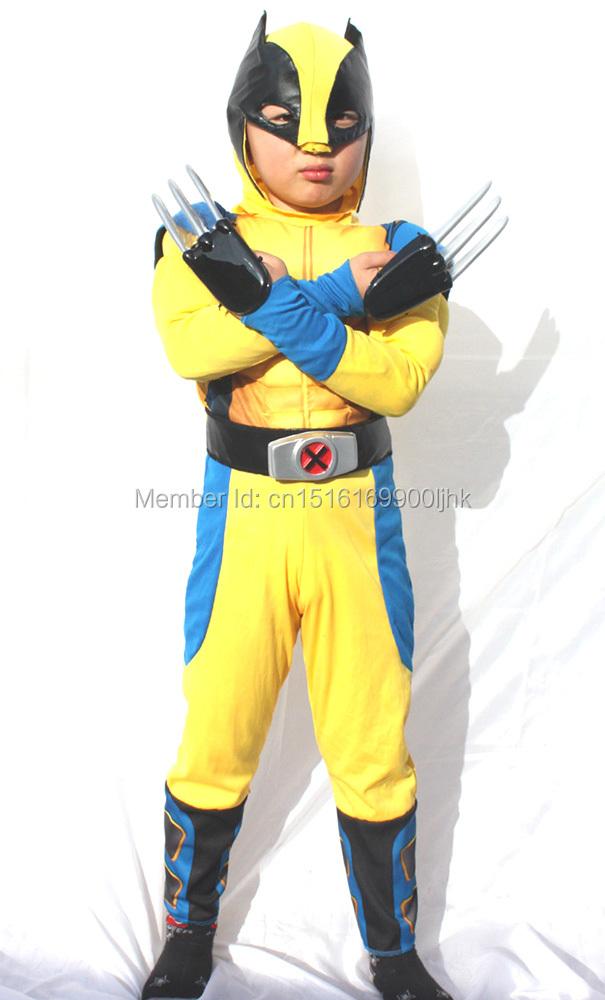 X-MEN Logan Costume Disfraz Set de 2 Garras de Lobezno Cosplay Wolverine