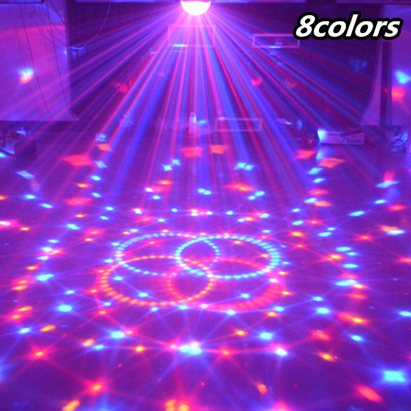 Voice 8 color LED magic crystal ball high brightness laser stage light flash lamp KTV lamp bar wedding disco