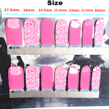Pink White letter cat child Nail Arts Nail Sticker Waterproof Nail Decal Sticker Gel Polish French