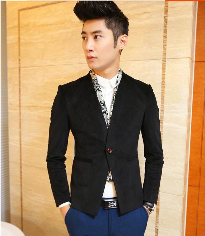 f93d4e3d66b Hot Selling Spring And Autumn Men  s Blazer Handsome Casual Jacket Coat  Leopard Print Patchwork Gold Suit Men Clothing