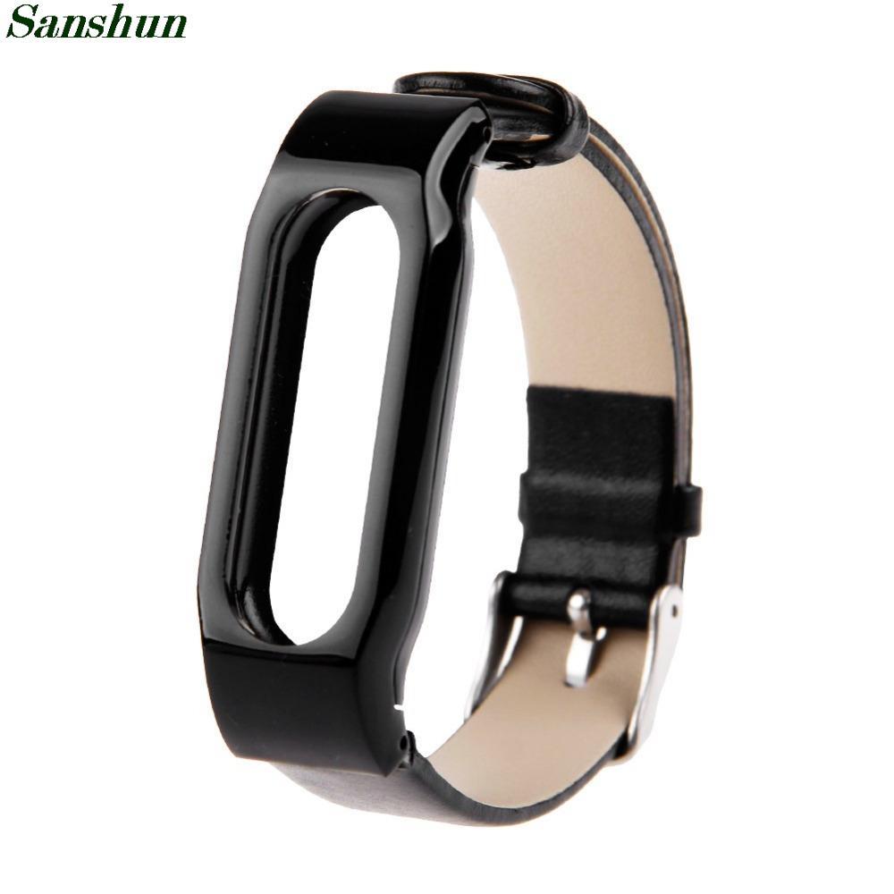 Sanshun из натуральной кожи замена браслет для XIAOMI MI группы ремешок Smartband многоцветный