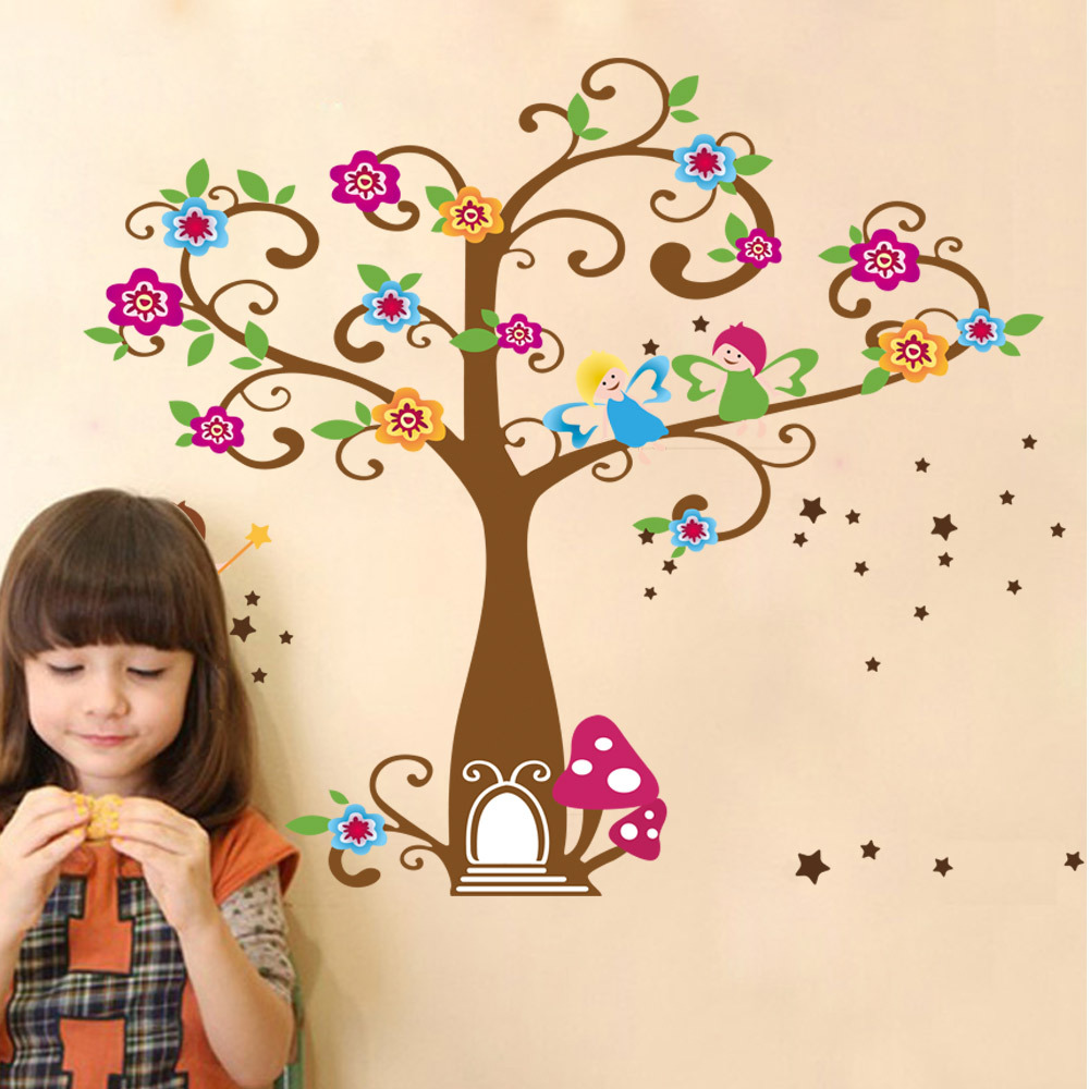 60*90cm 3D Wall Sticker Removable Wall Painting Decorative Kid Bedroom Decorative Art Decals PVC Wallpaper