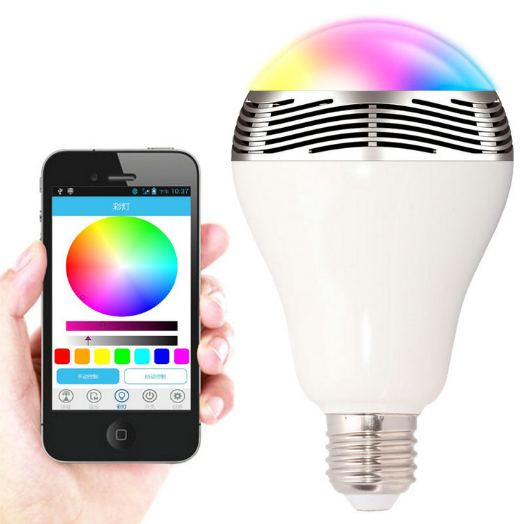 Jbl 01 Smart Led Bulb Lamp With Bluetooth Speaker E27 Base