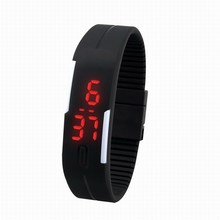 New 2015 Fashion Sport LED Watches Candy Color Silicone Rubber Touch Screen Digital Watches, Waterproof Bracelet Wristwatch