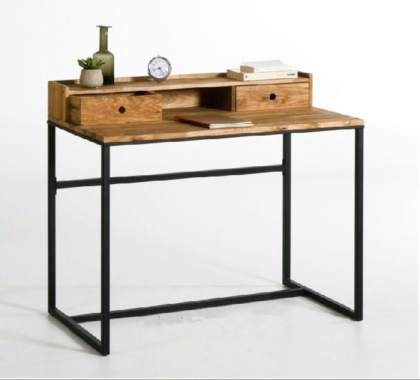 loft industriel am ricain de style fer forg tables et chaises en bois bureau bureau ordinateur. Black Bedroom Furniture Sets. Home Design Ideas