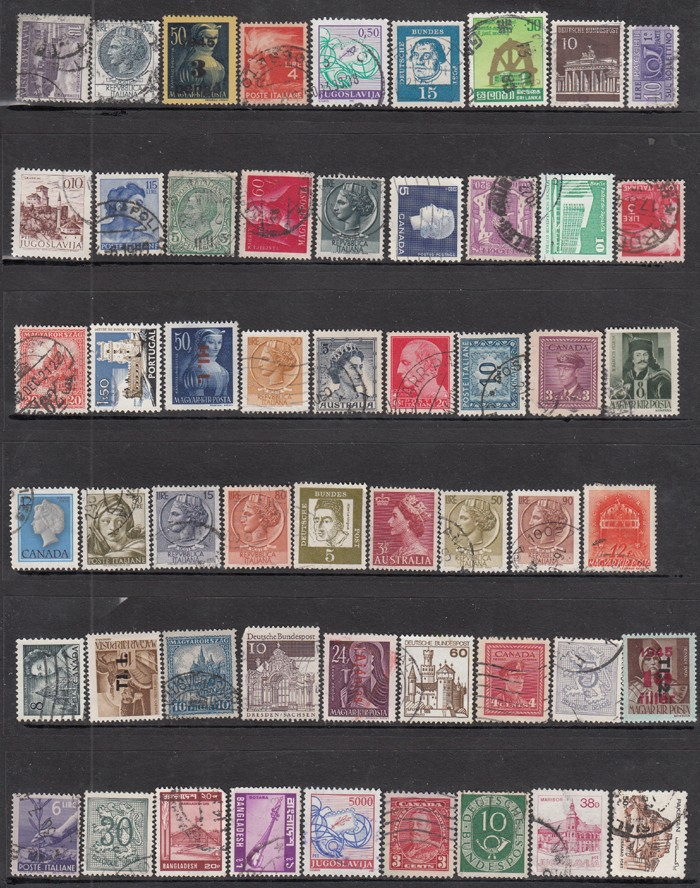 No Repeat Postage Stamps Collections From All Over The World With Post Mark  Stamp Postal All Used For Collection Old Stamp Sell Stamp Collection From