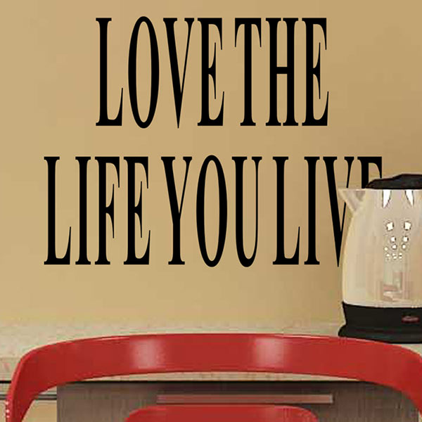 Simple wallpaper poster Letter Love the Life You Live Removable Wall Sticker Decal Home Room Art Decor DIY Vinyl
